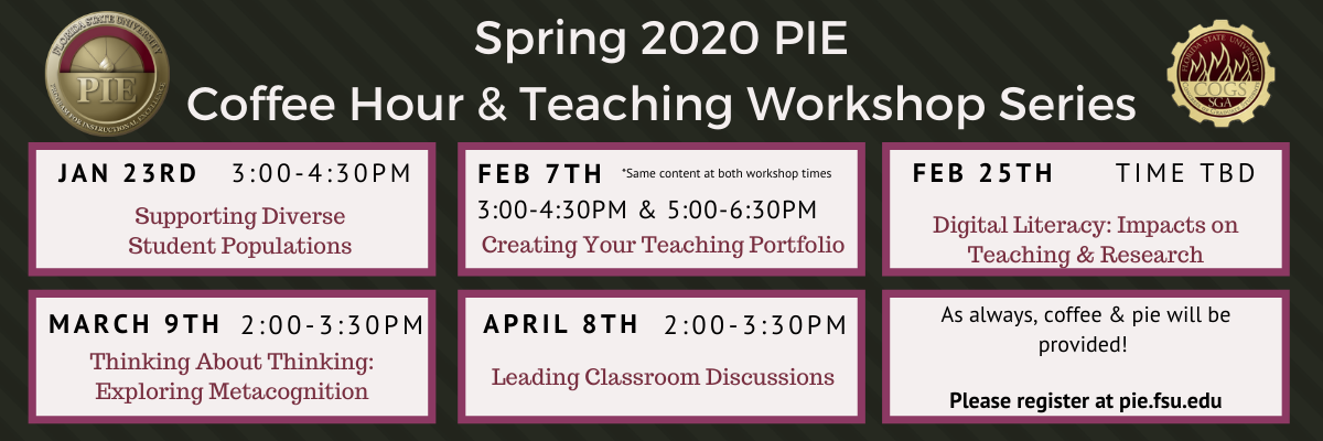 Spring 2020 Coffee Hour